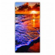 Quadro Praia Paradisíaca Cores Vibrantes - Kit 3 telas