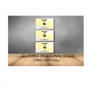 Quadro Retangular Vertical Personalizado  - Kit 3 telas