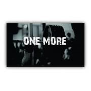 Quadro One More Musculação - Tela Única