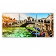 Quadro Veneza Luxo - Kit 3 telas