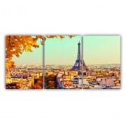 Quadro Vista Paris Torre Eiffel - Kit 3 telas