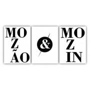 Trio Quadros Mozão e Mozin - Kit 3 Tela