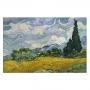 Quadro Campo de Trigo com Ciprestes de Vincent Van Gogh - Tela Única