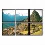 Kit Quadros Machu Picchu Luxo - Kit 6 telas