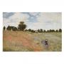 Quadro O campo de Papoulas de Claude Monet - Tela Única
