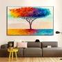 Quadro  Abstrato Árvore da Vida Luxo - Tela Única