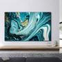 Quadro  Abstrato Azul Blue Ocean  - Tela Única