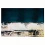 Quadro Abstrato Azul Marinho Pintura  - Tela Única