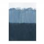 Quadro Abstrato Azul Oceano e Cores de Paz - Tela Única