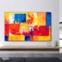 Quadro Abstrato Colorido Cores Quentes - Tela Única