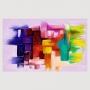 Quadro  Abstrato Colorido Master - Tela Única