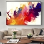 Quadro  Abstrato Colorido Moderno - Tela Única