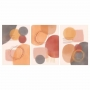 Quadro Abstrato Coral Marrom Nude - Kit 3 telas