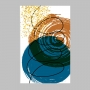 Quadro Abstrato Cores Azul e Marrom - Tela única
