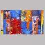 Quadro  Abstrato Cores Quentes Colorido - Tela Única