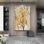 Quadro  Abstrato Folha Dourada 1 - Tela Única