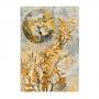 Quadro  Abstrato Folha Dourada 2 - Tela Única