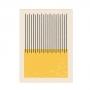 Quadro Abstrato Geométrico Minimalista Amarelo - Tela Única