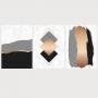 Quadro Abstrato  Geométrico Rosa Preto e Cinza Contemporâneo - Kit 3 telas