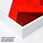 Quadro Abstrato Geométrico Vermelho e Preto Formas  - Kit 2 telas