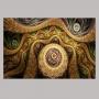 Quadro Abstrato Luxo Ouro - Tela Única