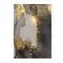 Quadro  Abstrato Mármore Cinza e Dourado - Tela Única