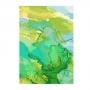 Quadro  Abstrato Mármore Verde e Branco - Tela Única