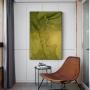 Quadro  Abstrato Mármore Verde e Dourado - Tela Única