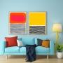 Quadro Abstrato Minimalista Colorido -  Kit 2 telas