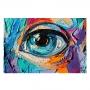 Quadro Abstrato Olho Cores Modernas - Tela Única
