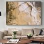 Quadro  Abstrato Patina Marrom Creme - Tela Única