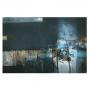 Quadro Abstrato Pintura Azul Escuro Impacto Luxo - Tela Única