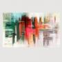 Quadro  Abstrato Pintura Moderna Colorido - Tela Única