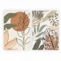 Quadro Abstrato Tropical Nude Contemporâneo - Kit 2 telas