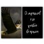 Quadro  Águia O Impossível é Questão de Ponto de Vista-  Kit 2 telas
