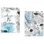 Quadro Amor Fé e Gratidão Azul Delicado - Kit 2 telas