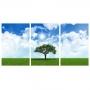 Quadro Árvore da Vida Natureza Green - Kit 3 telas