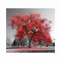Quadro Árvore da Vida Ype Vermelho - Tela Única