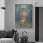 Quadro Auto Retrato Vincent Van Gogh - Tela Única