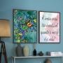 Quadro Borboletas e Flores do Campo Coloridas -  Kit 2 telas