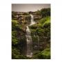 Quadro Cachoeira Raio de Sol Vertical - Tela Única