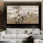 Quadro Cavalo Branco Impactante - Tela Única