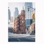Quadro Cidade Vintage Vertical - Tela Única