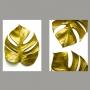 Quadro Costela de Adão Dourado -  Kit 2 telas