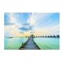 Quadro Deck Pier Maldivas Luxo - Tela Única