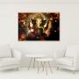 Quadro Decorativo Lord Ganesha Elefante Dourado - Tela Única