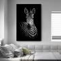 Quadro Deu Zebra Luxo - Tela Única