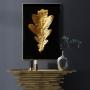 Quadro Folha Seca Preto e Dourado 4 - Tela Única