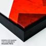Quadro Geométrico Abstrato Azul Pássaro Liberdade - Kit 3 telas