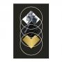 Quadro Geométrico Preto e Dourado Circulos - Tela Única